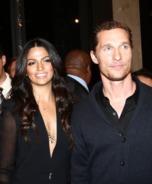Camila Alves wearing the Elephant Heart Charm Necklace With Birthstone