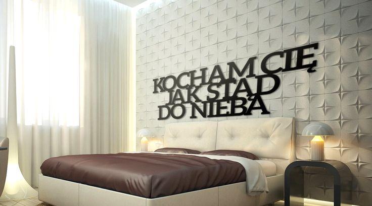 Kocham Cię jak stąd do nieba! #napis3D #napis #na #ścianę #dekoracja #wall #decoration #decor #shapedesign