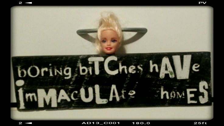Sm recycled pallet/dead barbie sign