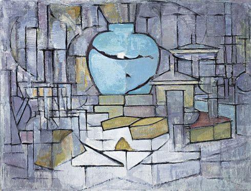 Collection Online   Piet Mondrian. Still Life with Gingerpot II (Stilleven met gemberpot II). 1911–12 - Guggenheim Museum