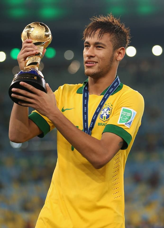 Neymar helped Brazil to a 3-0 win over Spain in the Confederations Cup final 2013
