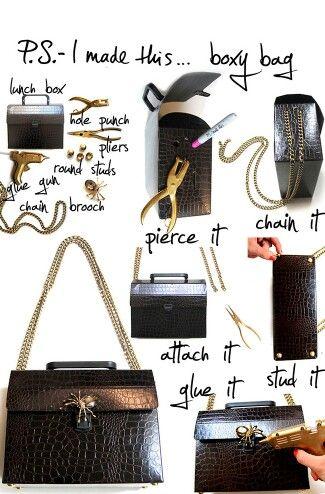 Veske purse skinn black