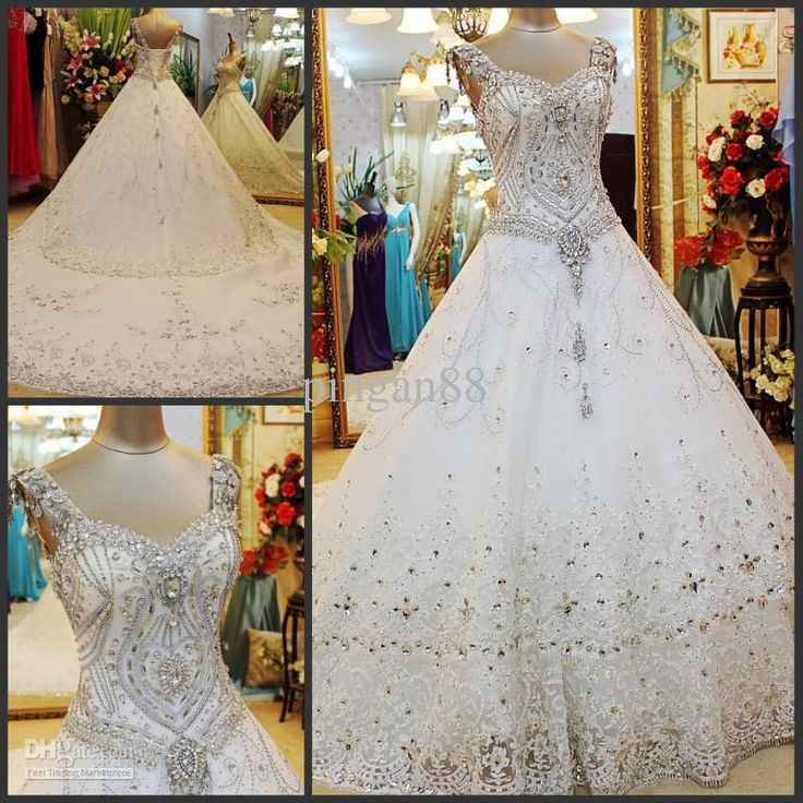 WOW!!!Discount Top Luxuy New Plus Size Hot Sexy Rhinestone Crystal Acrylic Mosaic Beaded Corset with Shoulder Strap Slim Wedding Dress Lace Bridal Gowns Online with $1070.0/Piece | DHgate