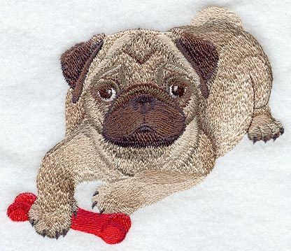 pug embroidery applique design | FREE Machine Embroidery Designs, Weekly Embroidery Projects, Tips