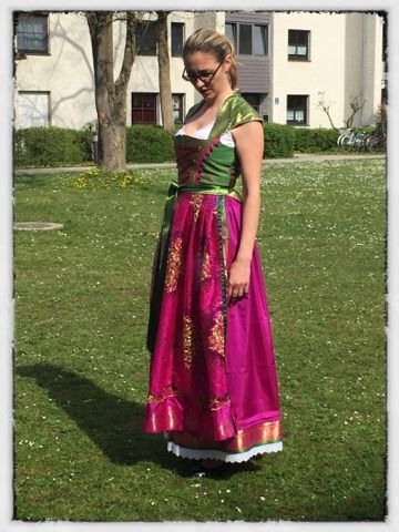 LaJu Design: Sari Dirndl Part 4 - Es ist fertig :)