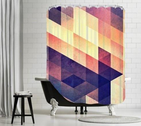 Dekoracje łazienek-zasłona prysznicowa Bonami