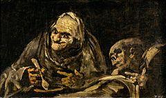 Francisco Goya/ Dwie staruchy jedzące zupę