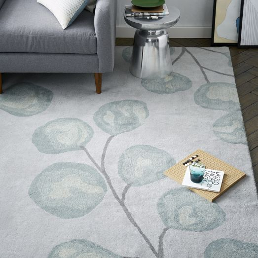 Hand Tufted By Craftmark Certified Artisans Our Eucalyptus Rugs Large Scale Print Is Inspired The Native Flora And Fauna Of Australia