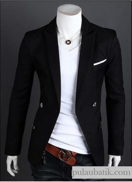 jual model jas blazer korea pria slimfit terbaru murah online di solo