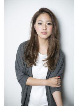 ガーデントウキョウ GARDEN Tokyo ヘアスタイル:『GARDEN JYO』前髪なし耳かけスウィートロング×ベージュカラー ホットペッパービューティー
