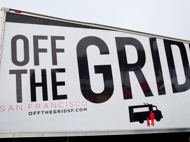 Off the Grid. San Francisco's mobile food truck extravaganza.  Check this out the next trip.