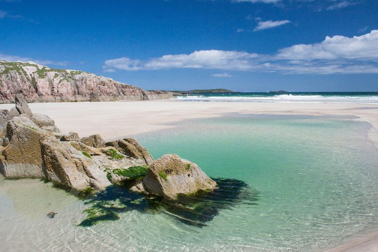 """The Seychelles? All this photo needs is a palm tree to make it look exactly like a tropical resport. It was taken at Lon Liath beach just north of Arisaig, a Highland village near Fort William. The area is known as """"The Road To The Isles"""", as you can catch ferries to Muck, Eigg, and Rum. 