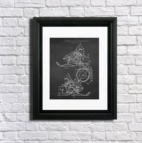 Vintage Snowmobile 3 Unframed 8x10 Patent Art for Snowmobiling Wall Decor