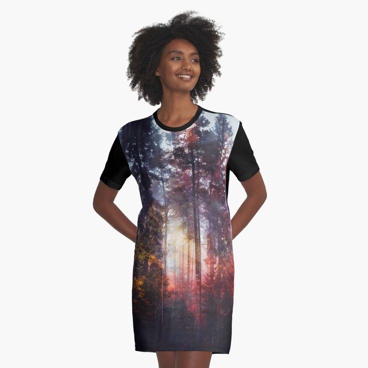 'Warm fuzzy feelings' Graphic T-Shirt Dress by HappyMelvin. #clothing #fashion #original #nature #wanderlust #dress