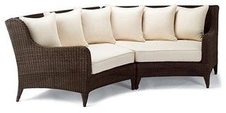 Monterey Left-facing/Right-facing Curved Outdoor Sofa Cushions, Patio Furniture - traditional - outdoor pillows - by FRONTGATE