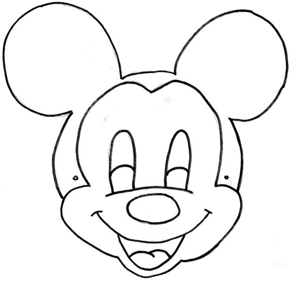 minnie mousePrintable Masks to Color | Mickey Mouse Mask Template Printable