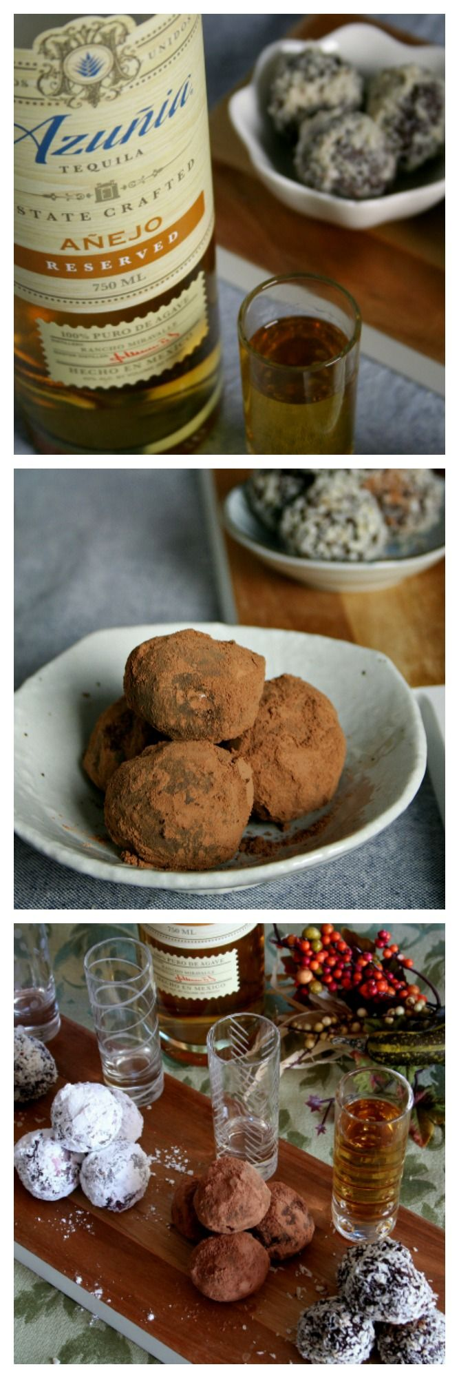 Thanksgiving meal ideas for the tequila lover with a Bonus Recipe: Hibiscus & Dark Chocolate Tequila Truffles with Azuñia Tequila. #chocolate #tequila #Thanksgiving #AzuniaTequia