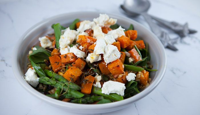 Maple Roasted Butternut Pumpkin and Freekeh Salad | Good Chef Bad Chef