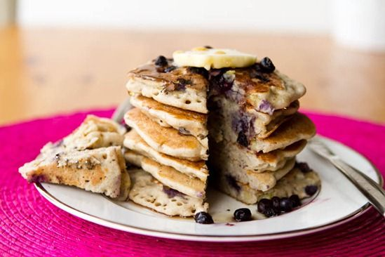 Vegan & Gluten-Free Vanilla Blueberry Buckwheat Pancakes — Oh She Glows