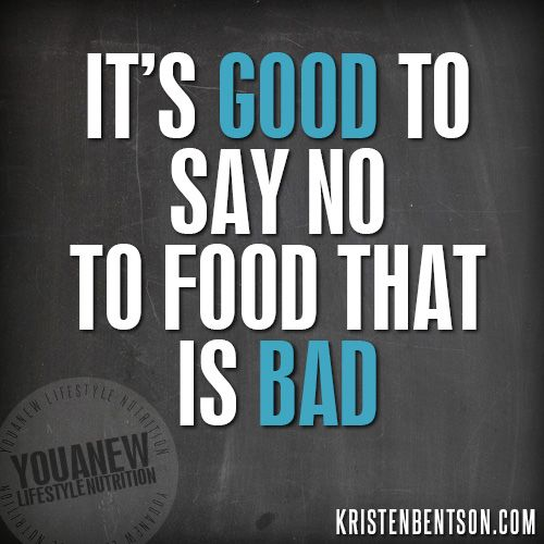 Dr. Kristen Bentson will break down the reasons it's good to say no to food that is bad!!