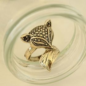 Cute Fox Vintage Lovely Big Animal Rings Jewelry Cake