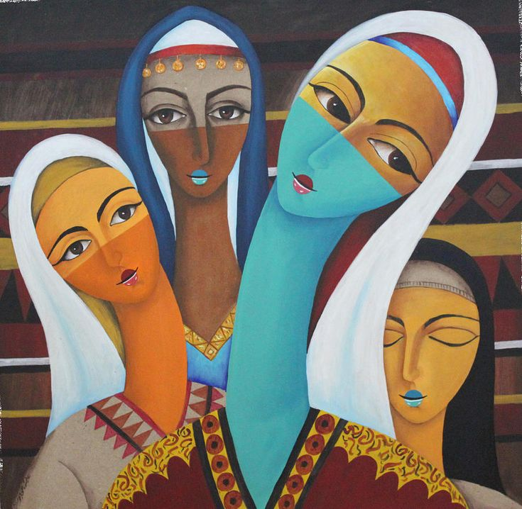 Arab Women by Aeich Thimer (Syria)