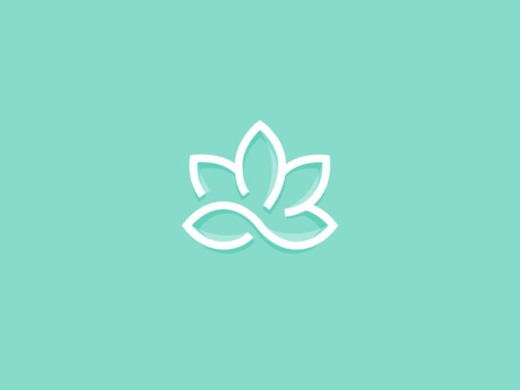 This symbol is a combination of a lotus flower (representing wellness) and a trinity knot (representing mind, body, spirit).