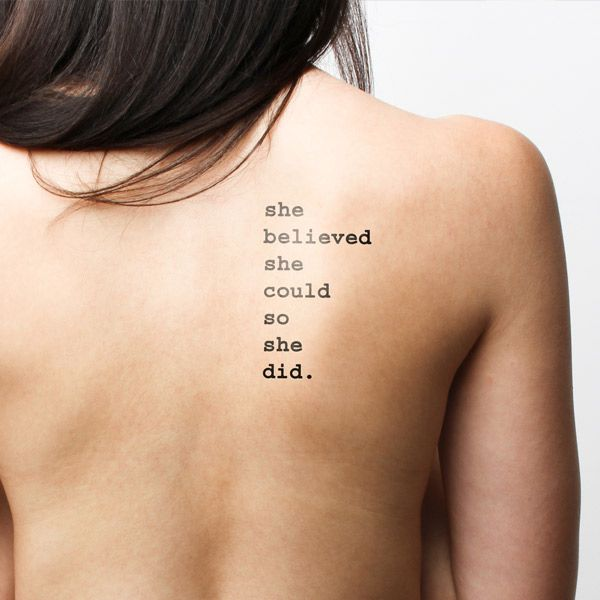 17 Best Images About Quotes Temporary Tattoos On Pinterest