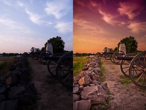 How to add dramatic colors to a photo