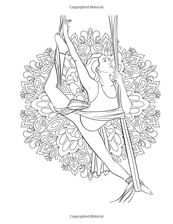 28 best Yoga, aerialist, silks watercolor art. images on