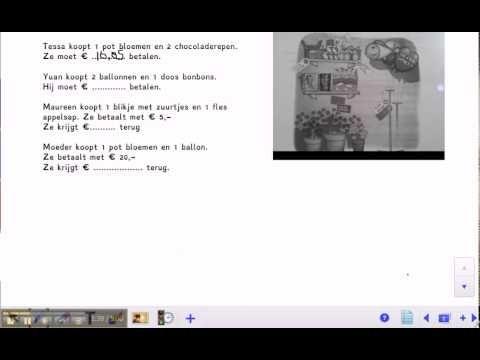 ▶ Pluspunt 3: groep 7 blok 6 les 3 rekenen met geld - YouTube