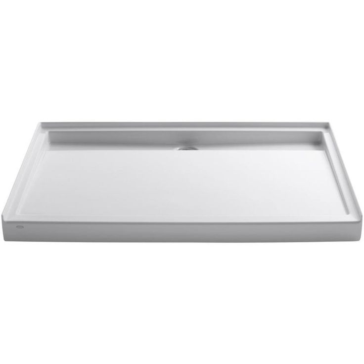 Groove White Acrylic Shower Base (Common: 42-in W x 60-in L; Actual: 42-in W x 60-in L)