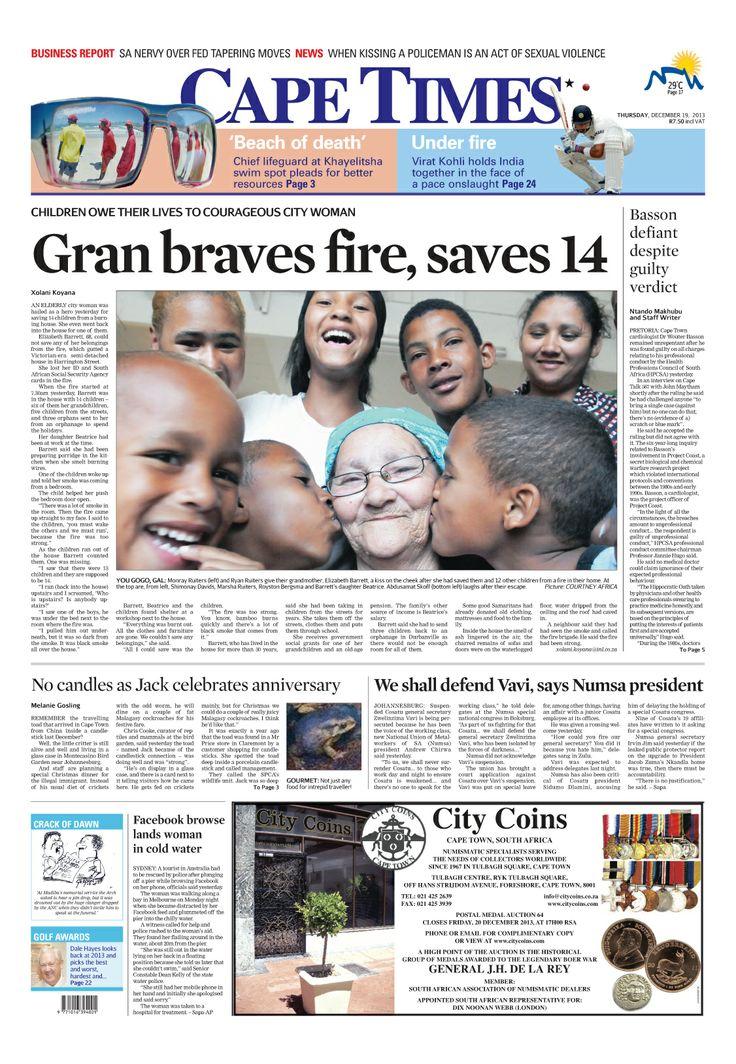 News making headlines: Gran braves fire, save 14
