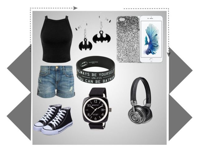 """Batman Music"" by mloperamarin on Polyvore featuring moda, Miss Selfridge, Current/Elliott, Briston, Topshop y Master & Dynamic"
