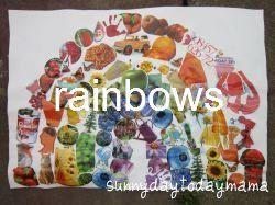 Rainbows http://sunnydaytodaymama.blogspot.co.uk/2012/05/rainbows.html