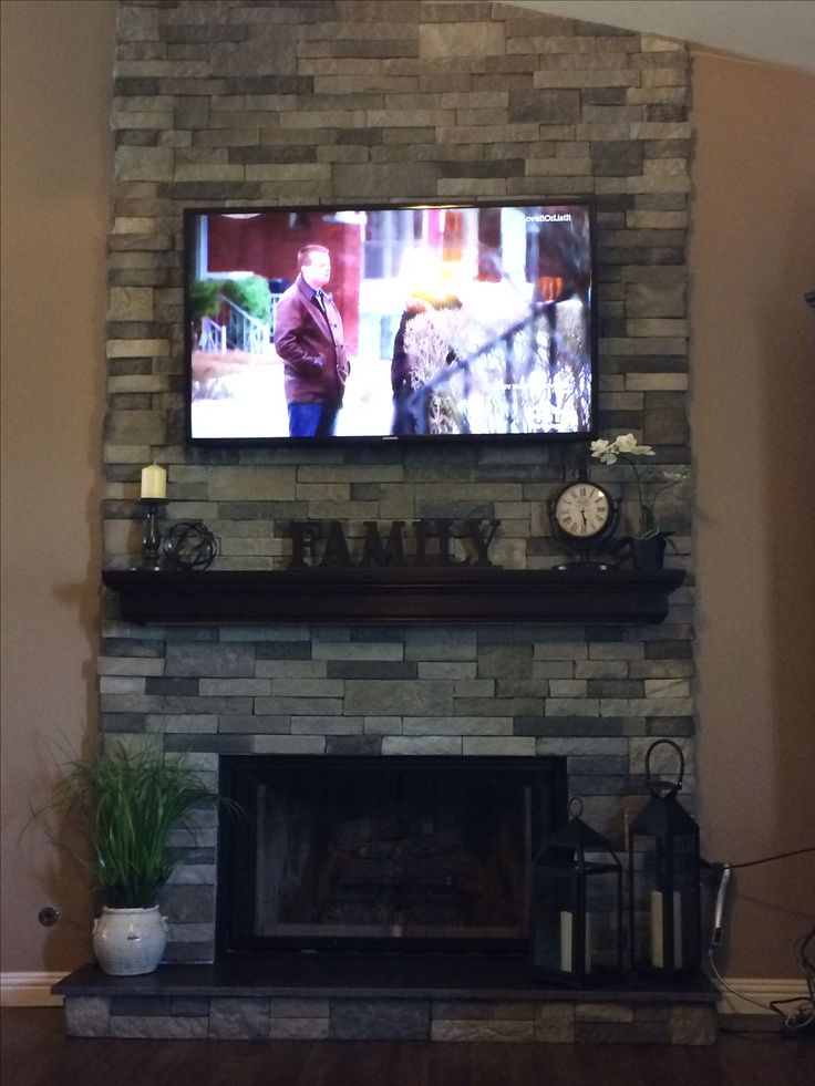 My very own fireplace, renovated using Airstone from Lowe's