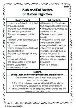Australian Immigration History Push and Pull... by Oz Curriculum HQ | Teachers Pay Teachers