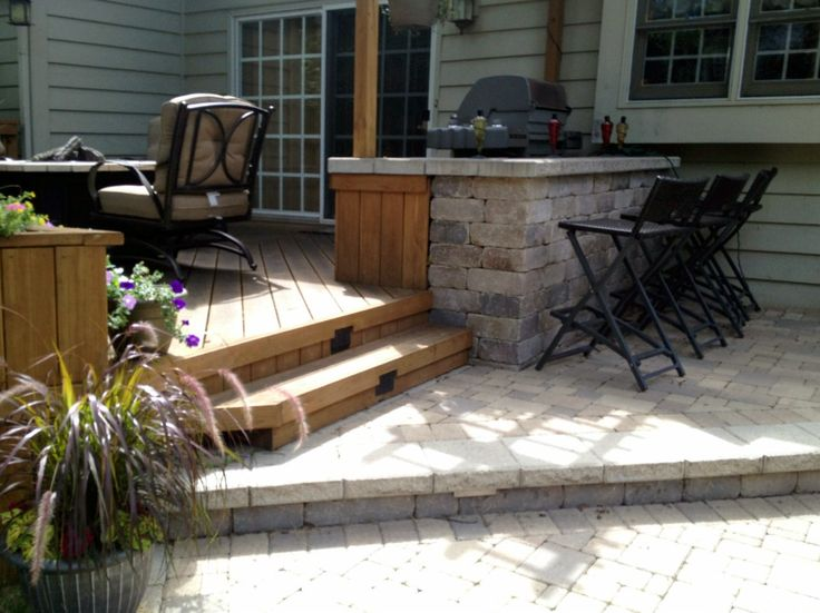Deck And Patio With Outdoor Lighting By Naperville Deck Builder, Archadeck  Of Chicagoland