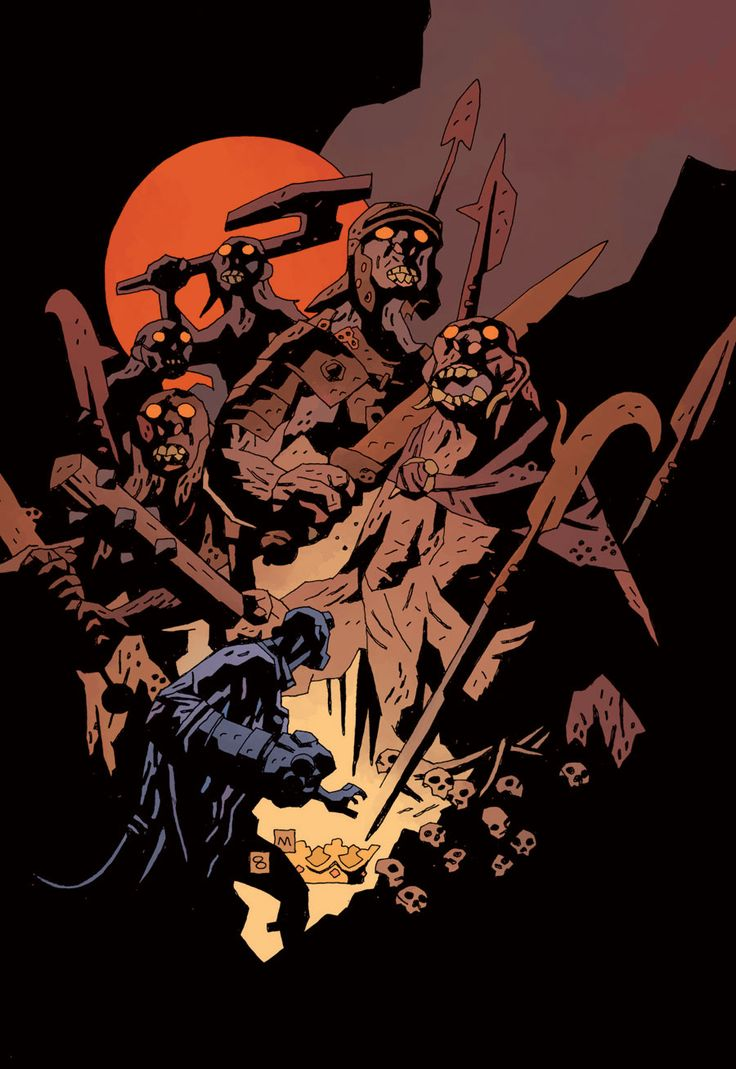 THE SPECTACULAR ART OF MIKE MIGNOLA: omercifulheaves: Hellboy: The Wild Hunt by Mike...