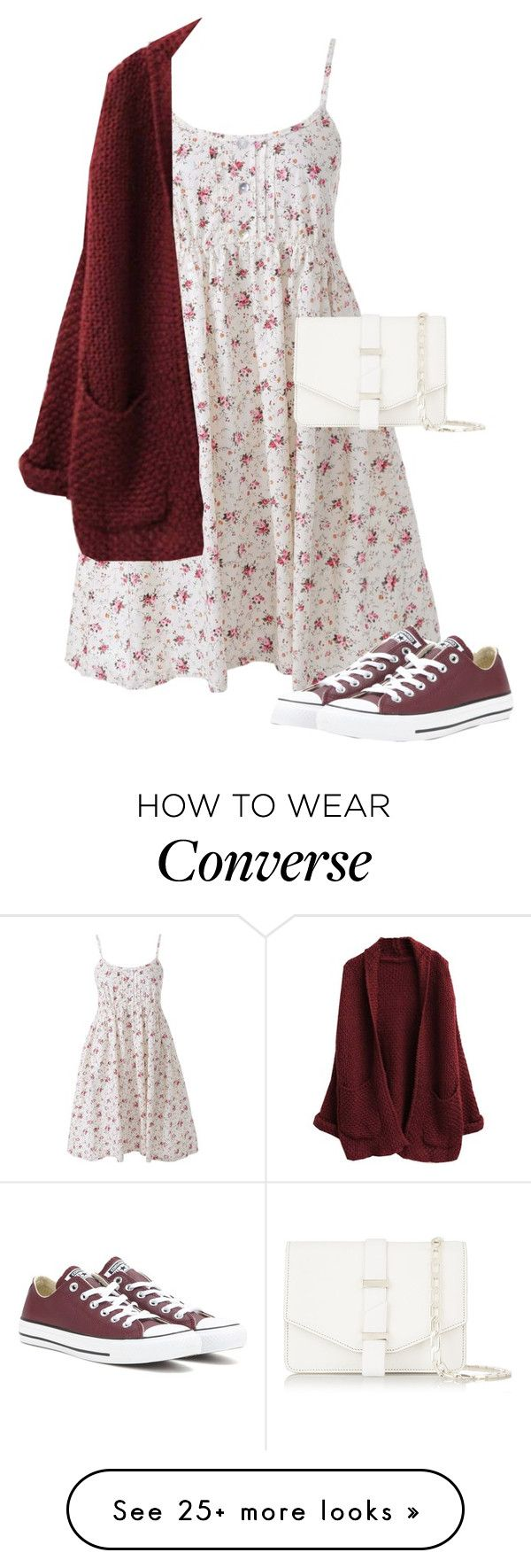 """""""Untitled #620"""" by indirareeves on Polyvore featuring Victoria Beckham, Converse, cutecardigan and springlayers"""