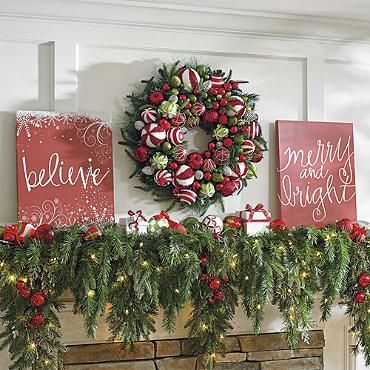 """""""Merry & Bright"""" Christmas Canvas"""