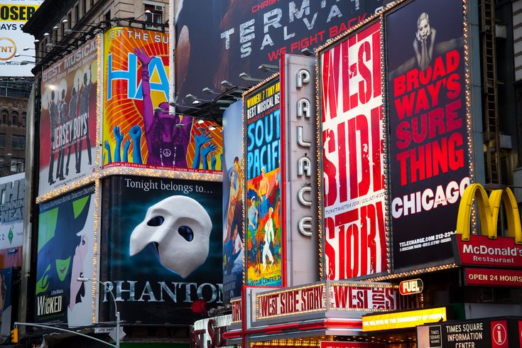 Broadway Shows in Times Square, where we spent out honeymoon!