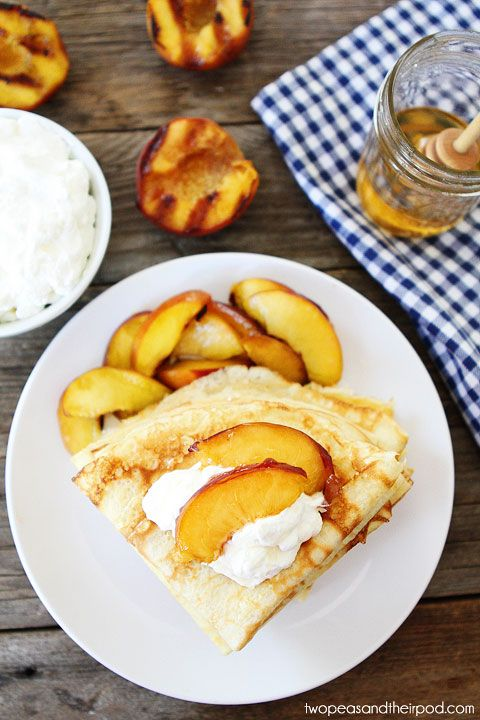 Grilled Peaches & Cream Recipes — Dishmaps
