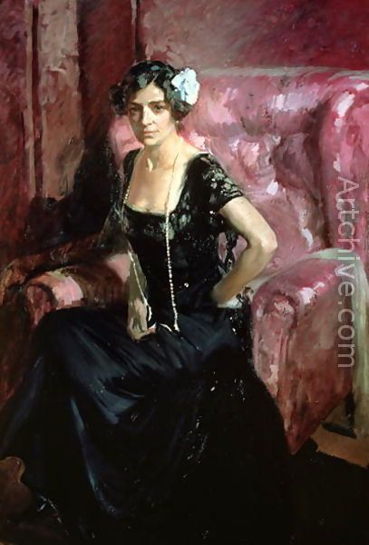 Clotilde in an Evening Dress, 1910 - Joaquin Sorolla y Bastida