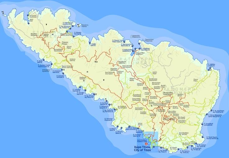 Tinos Island Map