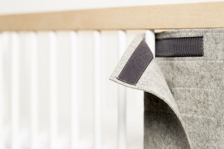 The WoolGuard by moKee, 100% natural wool fel cot bumper, with velcro straps #nursery #baby #cot #bumper #wool #felt