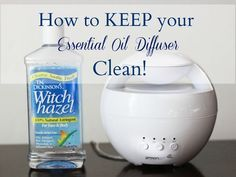 How to Keep your Essential Oil Diffuser from Becoming Dirty.