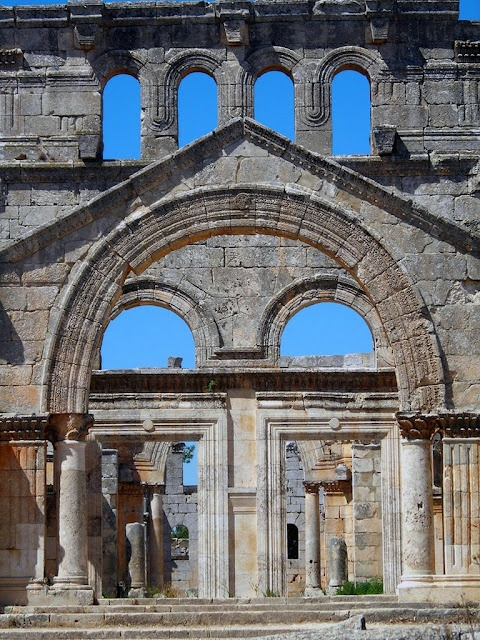 In Syria - part of the dead cities - long past Byzantium culture