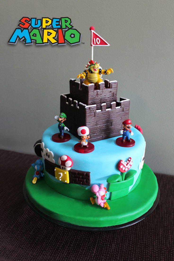Super mario birthday cake jason birthday ideas pinterest