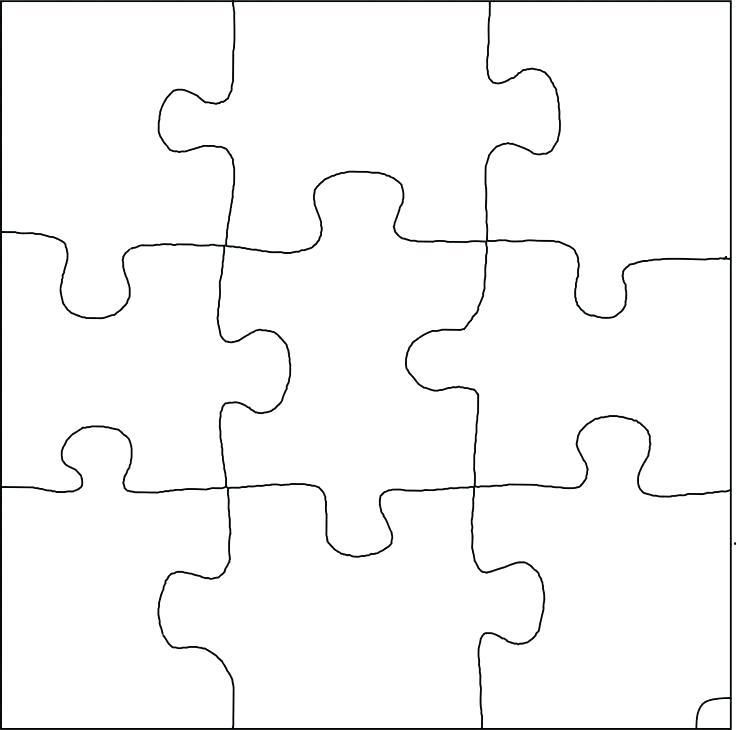 A 6 Piece Jigsaw Puzzle Template Typical 6 Piece Jigsaw Puzzle
